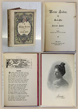 Hinrich Schütt Meine Lieder Gedichte 1899 Klassiker Lyrik Dichtkunst illustriert