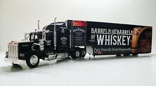 W900 KenworthBlack Diecast Semi Truck/Trailer 1/43 Jack Daniel's Custom Graphics