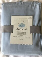 Cloud Island Fitted Crib Sheet Bayshore Blue nursery bedding new #28438