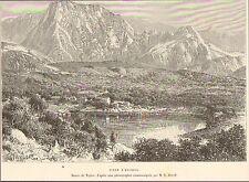 ILE DE LA REUNION PITON D' ANCHAING IMAGE OLD PRINT 1889