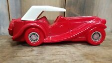 """Vintage 1936 Mg Car Red Glass""""Tai Winds"""" After Shave Avon Bottle Empty"""