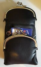Marshal Leather Zip And Snap Black Cigarette Case Up To 120's