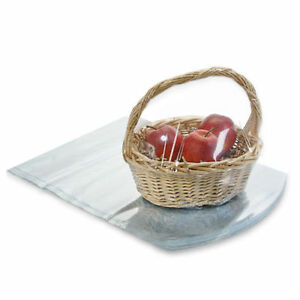 """10 Gift Basket PVC Heat Shrink Wrap Film 22x28 Fitted Dome Bag 22"""" x 28"""""""