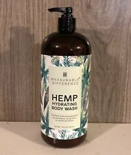 Measurable Difference Hemp Hydrating Body Wash 32 oz. Pump Bottle NEW