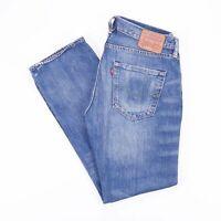 Vintage LEVI'S 501 Regular Straight Fit Men's Distressed Blue Jeans W34 L30