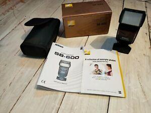 BOXED Nikon SB-600 Speedlight Shoe Mount Flash (Fully Working)