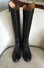 """DOVER SADDLERY """"The National"""" Tall Black Leather Riding Boots; Mens's Size 9W"""