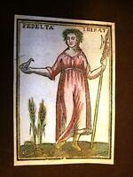 Era Hera Dea fedeltà Settecentina acquerellata a mano del 1785 Andre Declaustre