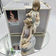 Lladro Ballet Dancer Tocado Flores N. 5.714 Original Box Display Mirror Retired