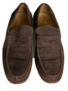 Russell and bromley Mens Loafers Size 7 Brown suede