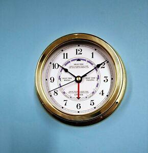 MEGA-QUARTZ SHIPS Time and Tide Clock brass lacquered finish case