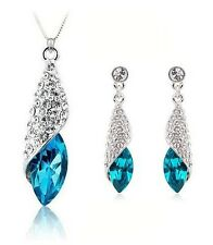 Purple 100% Silver 925 AAA Jewelry Sets for Women Blue Conch Sets Solid Silver