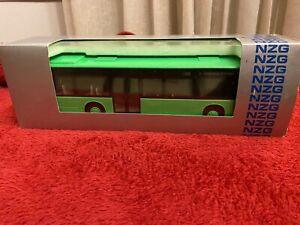 Brand New NZG 443 Mercedes Benz Citaro City Bus Lime Green 1:43 Congress Center