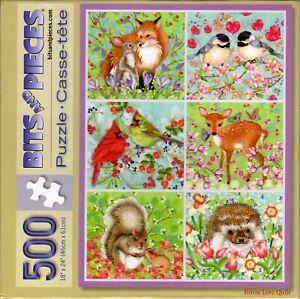 Forest Love Quilt 500 Piece Puzzle - Nancy Archer