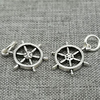 5pcs of 925 Sterling Silver Wheel Nautical Charm Sea Ocean for Bracelet Necklace