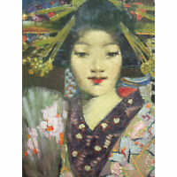 Henry Geisha Girl Detail Painting XL Canvas Art Print