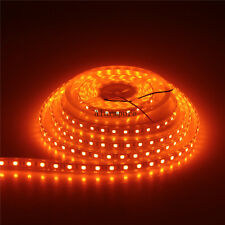 16FT 5050 Orange 5M 300 LED Strip Flexible Ribbon light Tube Waterproof IP67 12V