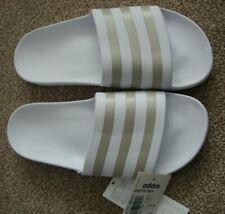 BNWT Ladies Adidas Adilette Aqua Duramo Slide white/metallic size 7