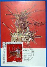 OEUVRE DE MATHIEU   FRANCE CPA Carte Postale Maximum Yt 1813 GF