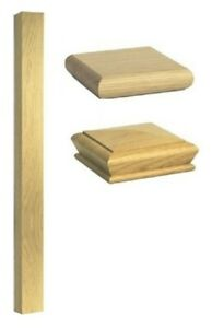 Stair Square 90mm Newel 1500mm Post - Solid Wood - Oak Quality Uk Manufactured!