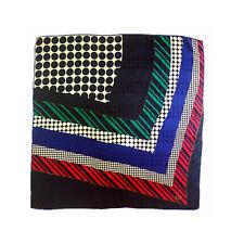 BILL BLASS pure silk jacquard square scarf colorful men formal suit scarfP702436