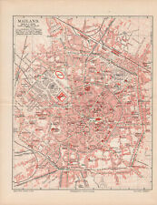 Antique map. ITALY. CITY MAP OF MILAN. c 1895