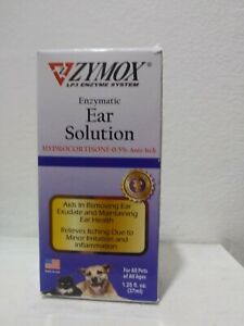 ZYMOX Ear Solution Hydrocortisone 0.5% Inflammation Relief 1.25 oz Exp 10/23+