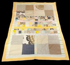 Handmade Patchwork Quilt Baby Quilt Lap Blanket 47x32 New Unused Vintage Fabric