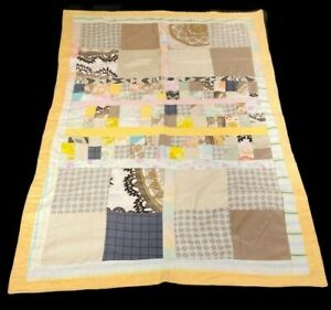Patchwork Quilt Baby Quilt Lap Blanket Handmade Vintage Fabric 47x32 New Unused
