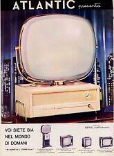 PUBBLICITA' 1958 TELEVISORE ATLANTIC PHILCO SERIE PREDICTA FUTURO MODELLI