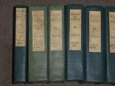 1932-1940 BOTANICAL GAZETTE MAGAZINE BOUND VOLUME LOT OF 9 - NICE PHOTOS - KD 3