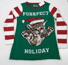 Ugly Christmas Sweater Purrfect Holiday Cat Kitten Size S