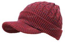 Unisex Winter Visor Beanie Knit Hat Cap Crochet Men Women Ski Warm