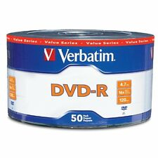 50 16X Verbatim Logo Branded DVD-R DVDR Blank Disc Media 4,7GB