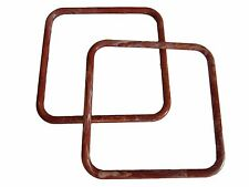 "Pair of 8"" Rust Marble Square Plastic Macrame Craft Handbag Purse Handles"