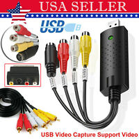 USB 2.0 Audio Video VHS VCR to DVD Converter Scart Capture Card Digital Adapter