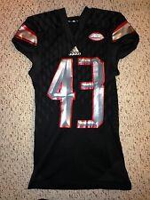 2015 Adidas Louisville Cardinals #43 Damien Smith Football Game Worn Jersey
