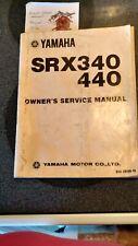 1976 Yamaha Srx 340 and 440 vintage snowmobile manual