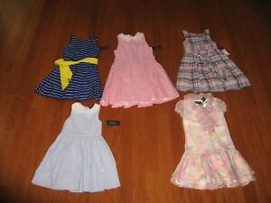 Ralph Lauren Fit-and-Flare Dress Girls Size 5/7/10 NWT MSRP $49.5-$69.5