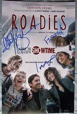 ROADIES CAST SIGNED 11X17 PHOTO LUKE WILSON IMOGEN POOTS 4+ DC/COA (RARE)