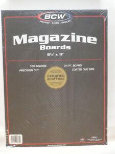 "BCW Magazine Size Comic Book Backing Boards (100 Stück) / 8,5"" x 11"" * säurefrei"
