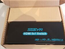 New listing Sgeyr Black Hdmi Switch 5x1 Hdmi 1.4 Switch Selector 5 Port