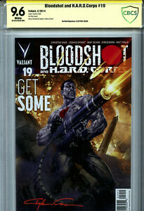 Bloodshot & H.A.R.D. Corps #19 (2014) Valiant CBCS 9.6 Signed by Clayton Crain!