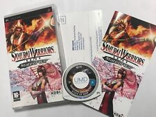 SAMURAI WARRIORS STATE OF WAR SONY PSP PLAYSTATION portatile Game + scatola Instructi'
