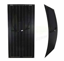 100w Flexible Solar Panel PV Photo-voltaic Boat Marine Caravan Home Black