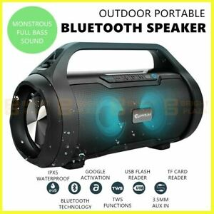 Outdoor Portable Wireless Bluetooth Speaker Stereo Super Bass Music Boombox IPX5