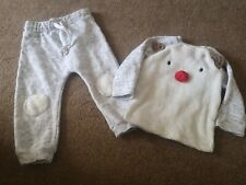 BABY BOY CHRISTMAS RUDOLPH OUTFIT JUMPER AND JOGGERS AGE 12-18 MONTHS - F&F