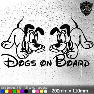 Dogs On Board Pluto Disney Sticker Vinyl Decal Car Window Bumper Dog Owner Dogs