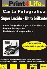 250 Fogli Carta Fotografica A4 High Glossy 260g Lucida Premium Brillante Photo