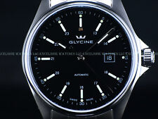 NEW PRE INVICTA Glycine Mens Combat Swiss ETA 2824 Auto Black Dial SS Watch 3890
